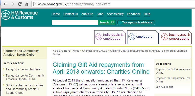 Whats happening with gift aid and the raisers edge in 2013 on april 22nd 2013 hmrc launches a new system for gift aid submission that allows you to send your gift aid claims directly from the raisers edge negle Image collections